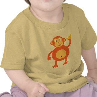 Mono anaranjado camisetas