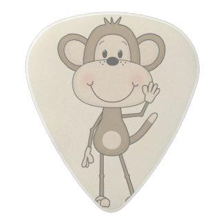 Mono animado lindo púa de guitarra acetal