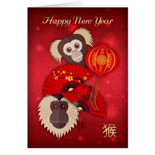 Mono, Año Nuevo chino, año de la tarjeta del mono