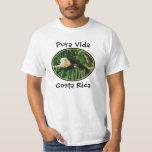 Mono blanco de la cara, Pura Vida, Costa Rica Camisetas