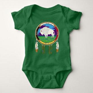 Mono blanco del bebé del nativo americano del body para bebé