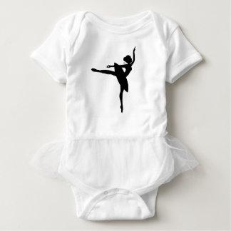 Mono bonito del tutú de la bailarina body para bebé