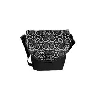 Mono carrito óptico geométrico del arte mini bolsas de mensajeria