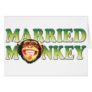 Mono casado tarjeton