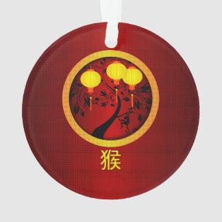 Mono chino elegante del Año Nuevo con las