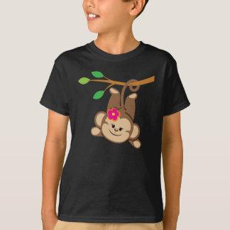 Mono de balanceo del chica camiseta