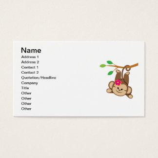 Mono de balanceo del chica tarjeta de visita