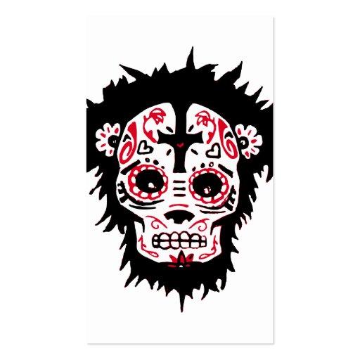 mono de dia de los muertos tarjeta personal