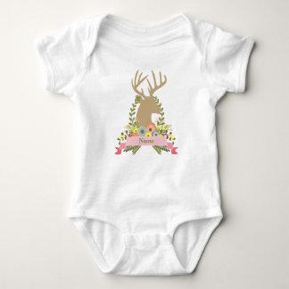 Mono de encargo del jersey del bebé de los ciervos