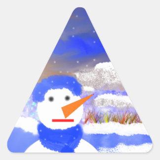 Mono de Nieve Pegatina Triangular