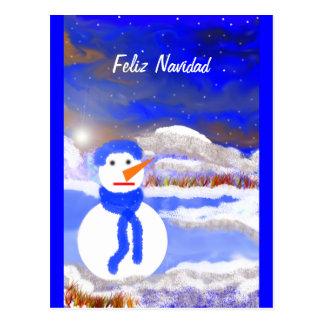 Mono de Nieve Postal