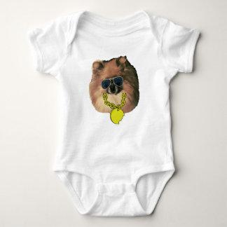 Mono de Pomeranian del bebé Body Para Bebé