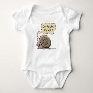 Mono del bebé del caracol del dibujo animado body para bebé