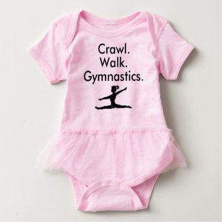 Mono del bebé del gimnasta de la gimnasia del body para bebé