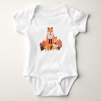 Mono del bebé del zorro de la caída de Automne Body Para Bebé