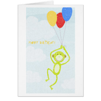 Mono del feliz cumpleaños (texto editable) tarjeta