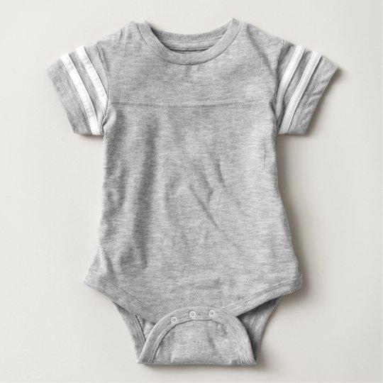 Body deportivo para bebés, Gris jaspeado