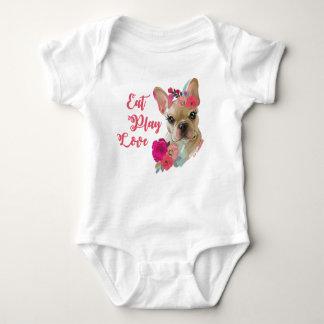 Mono del jersey del bebé con diseño del dogo