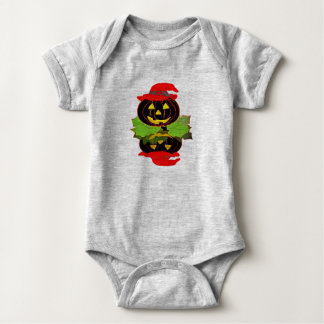 Mono del jersey del bebé de Halloween