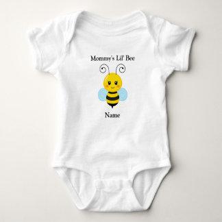 Mono del jersey del bebé de la abeja de Lil de la