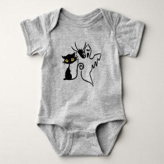 Mono del jersey del bebé de la araña, del gatito y