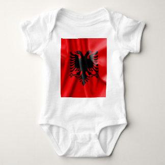 Mono del jersey del bebé de la bandera de Albania