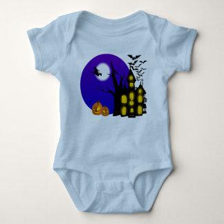 Mono del jersey del bebé de la casa de la bruja