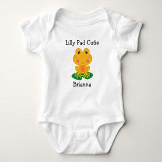 Mono del jersey del bebé de la rana de Cutie del