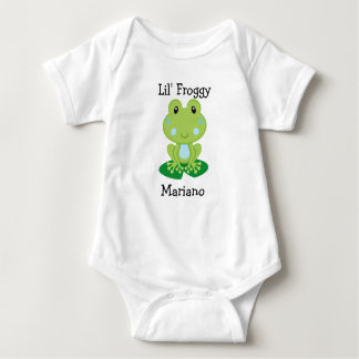 Mono del jersey del bebé de la rana de Lil