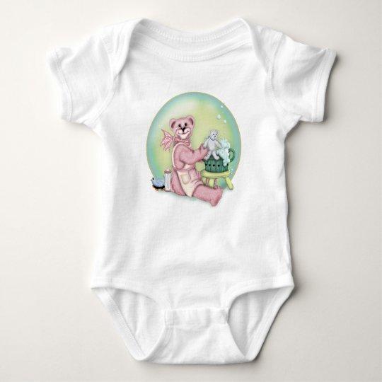 Mono del jersey del bebé del BAÑO del OSO