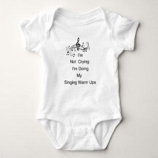 Mono del jersey del bebé del canto de la música