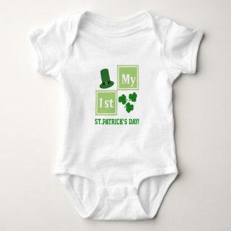 Mono del jersey del bebé del día de St Patrick