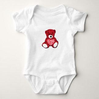 Mono del jersey del bebé del oso de peluche