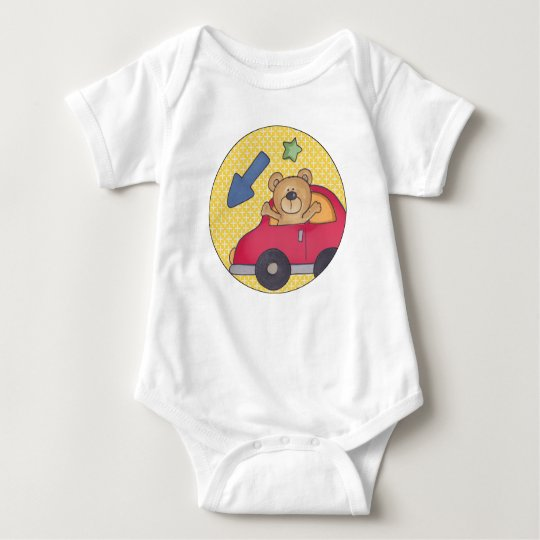 Mono del jersey del bebé del oso que agita