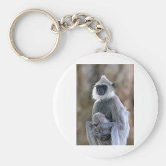 Mono del Langur Llavero Redondo Tipo Chapa