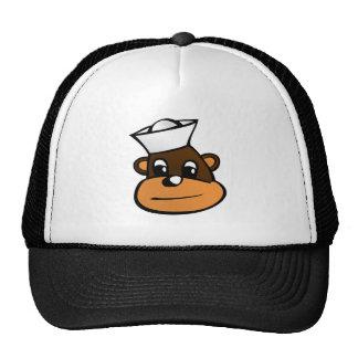 Mono del marinero gorras de camionero