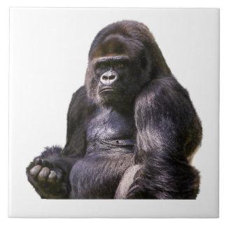 Mono del mono del gorila azulejo de cerámica