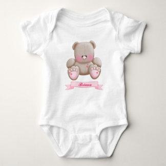 Mono del oso de peluche de la niña body para bebé