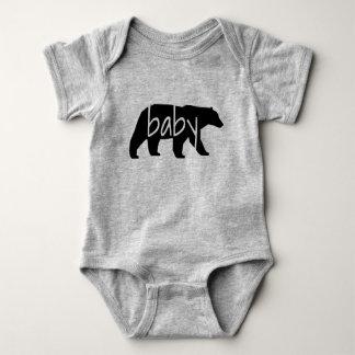 Mono del oso del bebé body para bebé