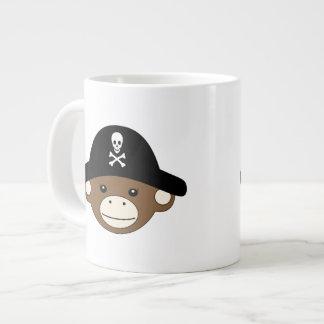 Mono del pirata taza grande