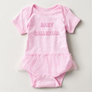Mono del tutú de la bailarina del bebé body para bebé