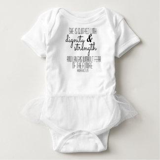 Mono del tutú de los proverbios 31 body para bebé