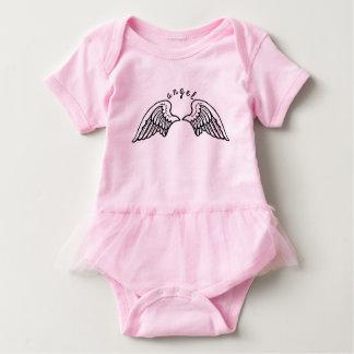 Mono del tutú del ángel body para bebé