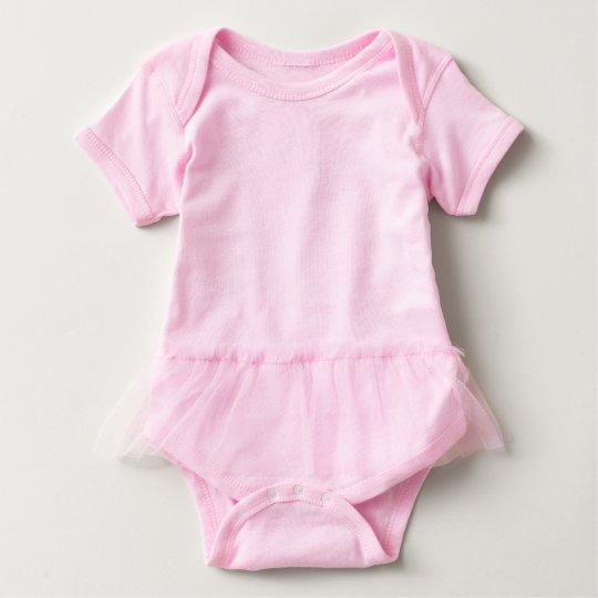 Body para bebés con tutú, Rosa