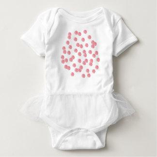 Mono del tutú del bebé con los lunares rojos body para bebé