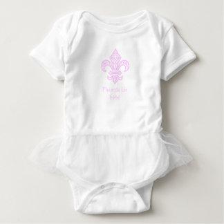 Mono del tutú del bébé™ de la flor de lis, body para bebé