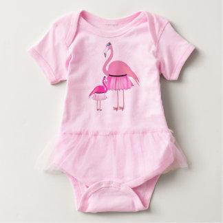 Mono del tutú del bebé del flamenco body para bebé