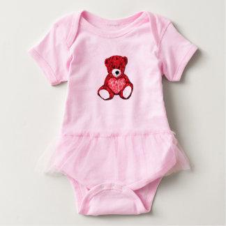 Mono del tutú del bebé del oso de peluche body para bebé