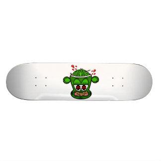 Mono del zombi en verde tabla de skate