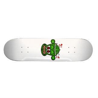 Mono del zombi en verde patinetas personalizadas